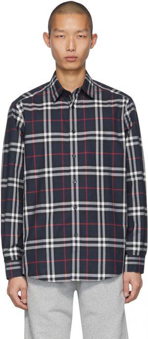 Burberry Navy Check Caxton Shirt