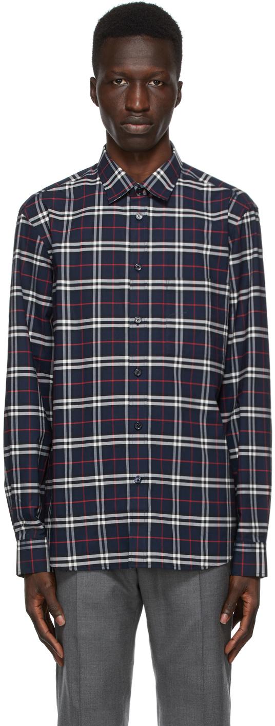 Burberry Navy Check Simpson Shirt