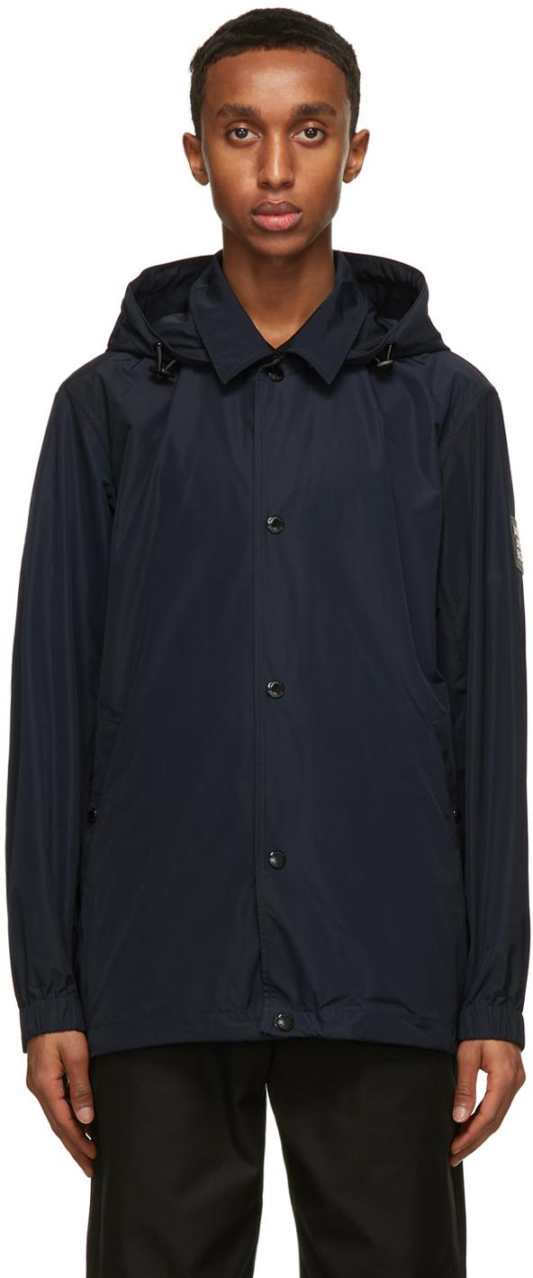 Burberry Navy Ealing Hooded Jacket
