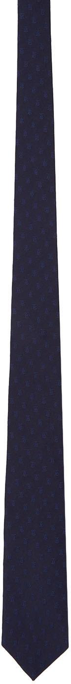 Burberry Navy Monogram Manston Tie