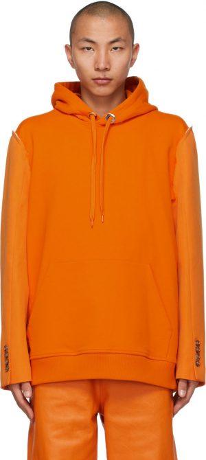 Burberry Orange Reconstructed Hoodie