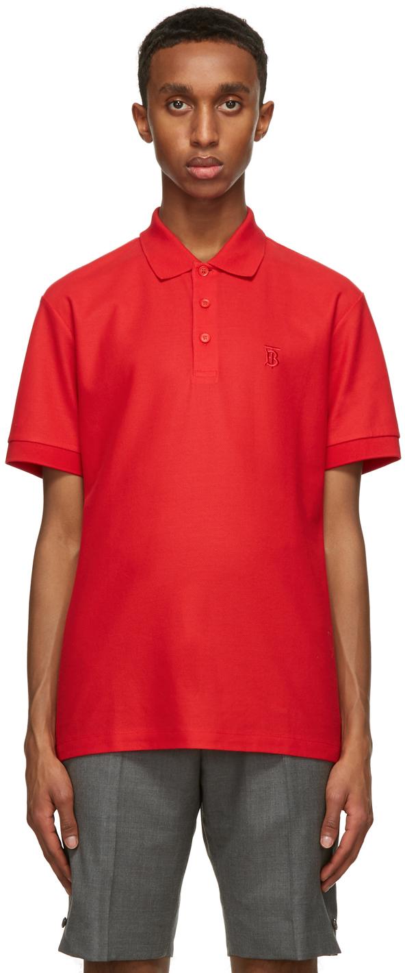 Burberry Red Eddie Polo