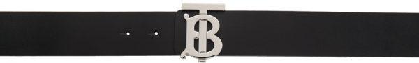 Burberry Reversible Black & Brown Monogram TB Belt