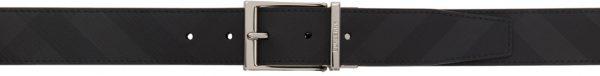 Burberry Reversible Black & Grey Check Belt