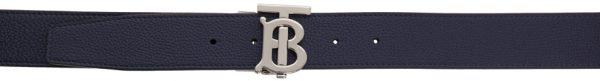 Burberry Reversible Navy & Black Monogram TB Belt