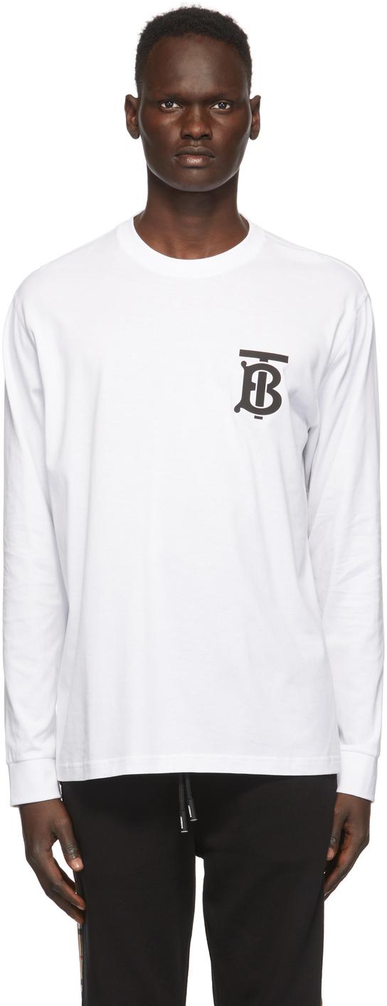 Burberry White Atherton T-Shirt