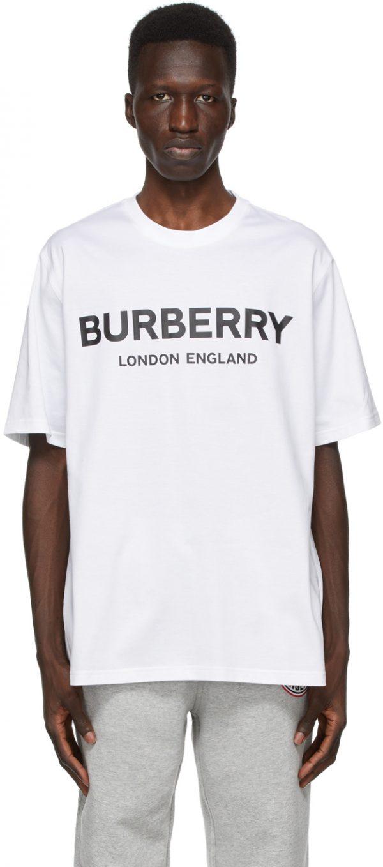 Burberry White Letchford Logo T-Shirt