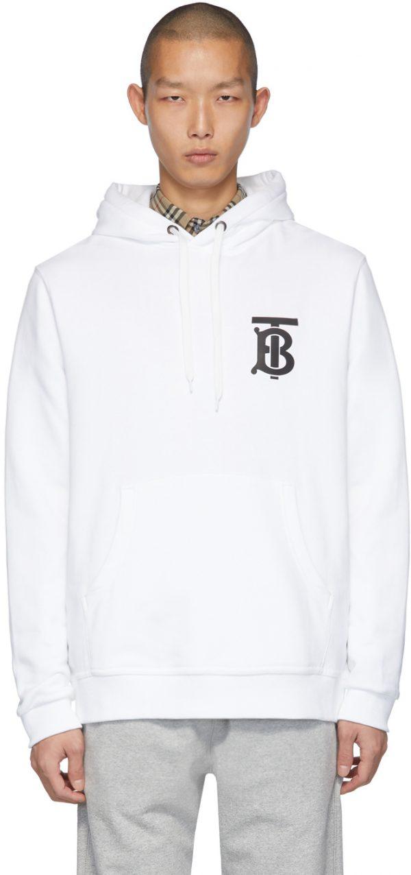 Burberry White Monogram Landon Hoodie