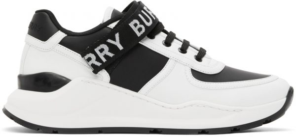 Burberry White & Black Ronnie Sneakers
