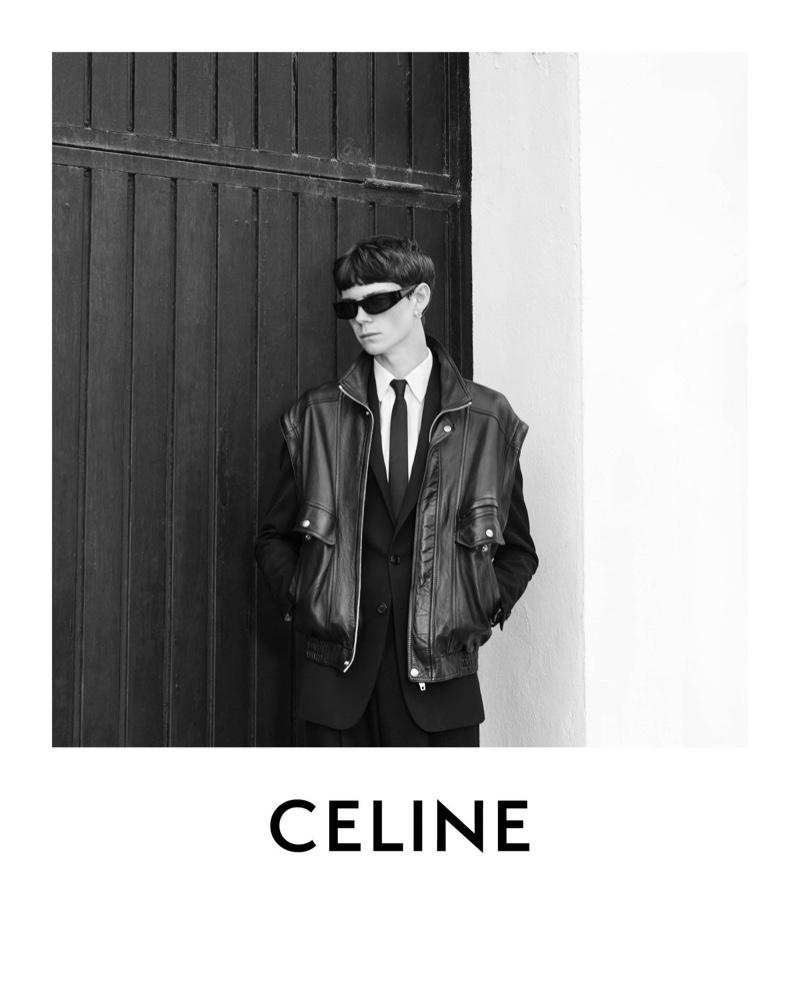 Hedi Slimane photographs Isaac Lane for Celine's spring-summer 2021 men's campaign.