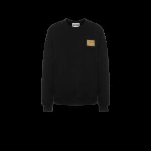 Cotton Sweatshirt Metal Label