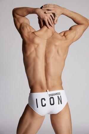 DSQUARED2 Men Brief trunks White Size 30 80% Polyamide 20% Elastane