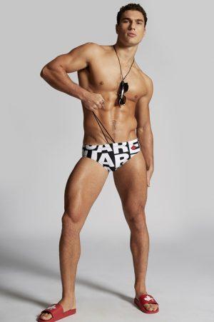 DSQUARED2 Men Brief trunks White Size 32 72% Polyamide 28% Elastane