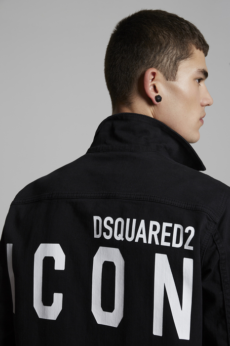 DSQUARED2 Men Denim outerwear Black Size 34 98% Cotton 2% Elastane