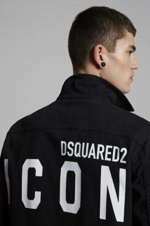 DSQUARED2 Men Denim outerwear Black Size 44 98% Cotton 2% Elastane