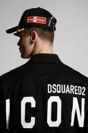 DSQUARED2 Men Denim outerwear Black Size 46 98% Cotton 2% Elastane