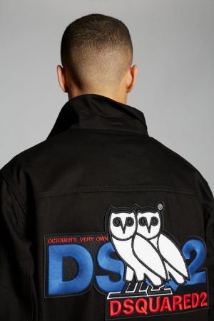 DSQUARED2 Men Denim outerwear Black Size S 98% Cotton 2% Elastane