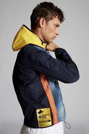 DSQUARED2 Men Denim outerwear Blue Size 40 98% Cotton 2% Elastane Polyester
