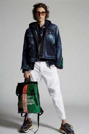 DSQUARED2 Men Denim outerwear Blue Size M 99% Cotton 1% Elastane