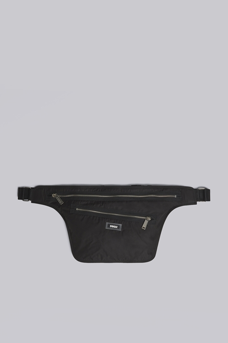 DSQUARED2 Men Fanny pack Black Size OneSize 100% Nylon