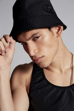 DSQUARED2 Men Hat Black Size S 100% Polyamide