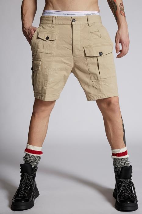 DSQUARED2 Men Shorts Beige Size 28 97% Cotton 3% Elastane