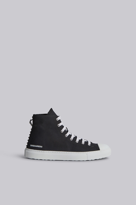 DSQUARED2 Men Sneaker Black Size 11 100% Cotton