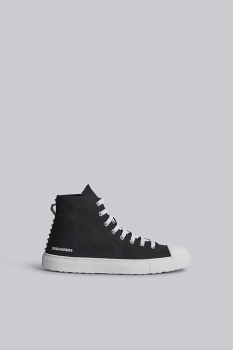 DSQUARED2 Men Sneaker Black Size 8 100% Cotton