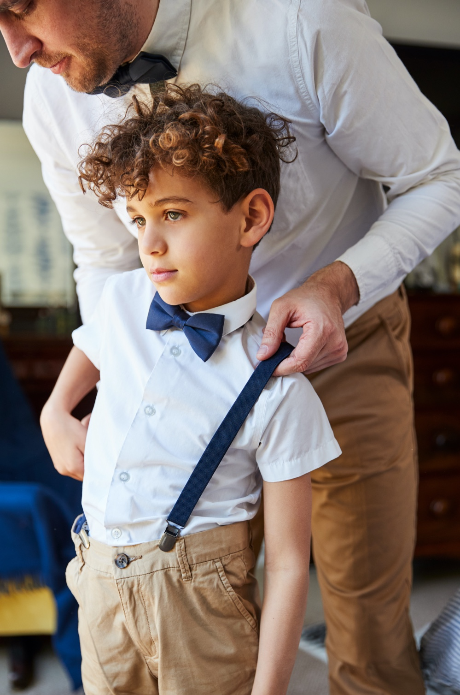 Father Son Matching Shirt Bowtie