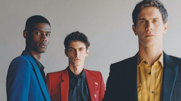 Vincent, Mihai & Rachide Tackle Elegant Fall Style for GQ Italia