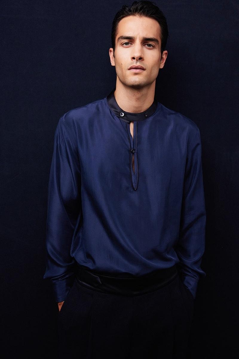 Aleksandar Rusic, who had the pleasure of opening and closing Giorgio Armani's spring-summer 2022 show.