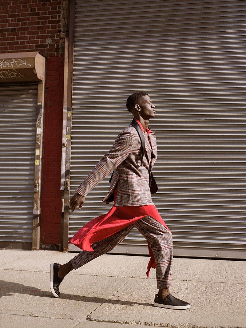 Ibby wears dress Michael Kors, shoes Cole Haan, pants and blazer 4SDesigns.