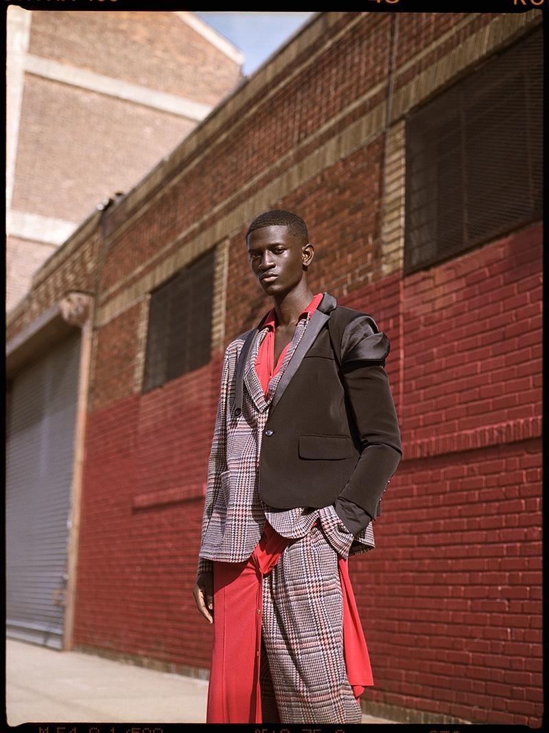 Ibby wears dress Michael Kors, half blazer Ron Dice, shoes Cole Haan, pants and blazer 4SDesigns.