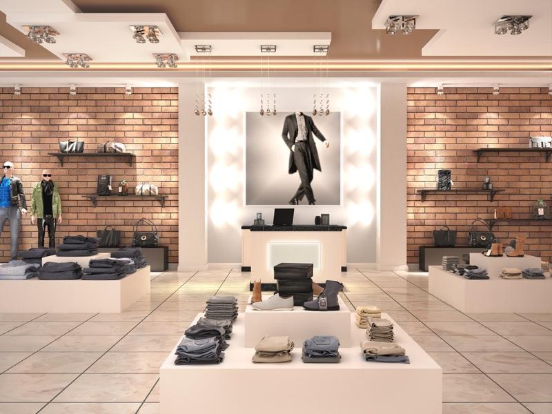 Interior Design Mens Clothing Store Concept