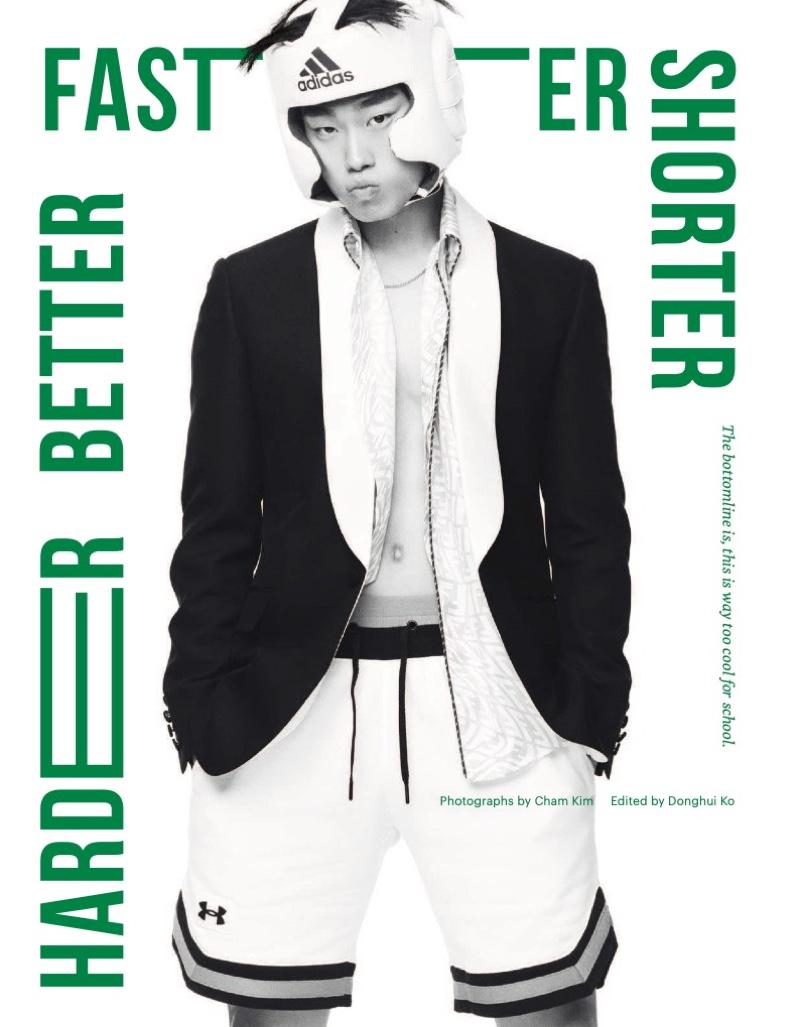 Ji Seop Lee Rocks Summer Shorts for Esquire Singapore