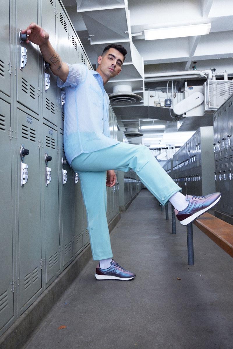 Atiba Jefferson photographs Joe Jonas to celebrate his new KOIO sneaker collaboration.