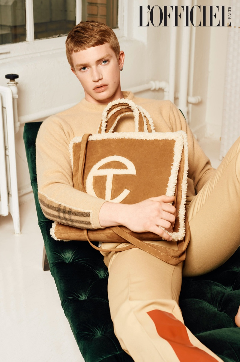Jonathan Louth is Label Obsessed for L'Officiel Hommes Baltic