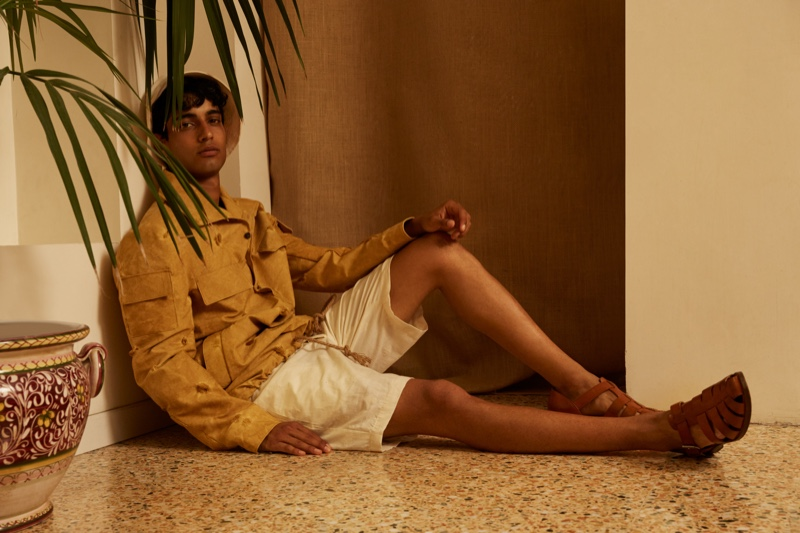 Luca Larenza presents its spring-summer 2022 collection lookbook featuring model Matteo Tagliabue.