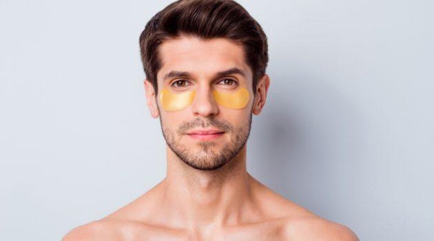Male Model Gold Eye Mask Skin