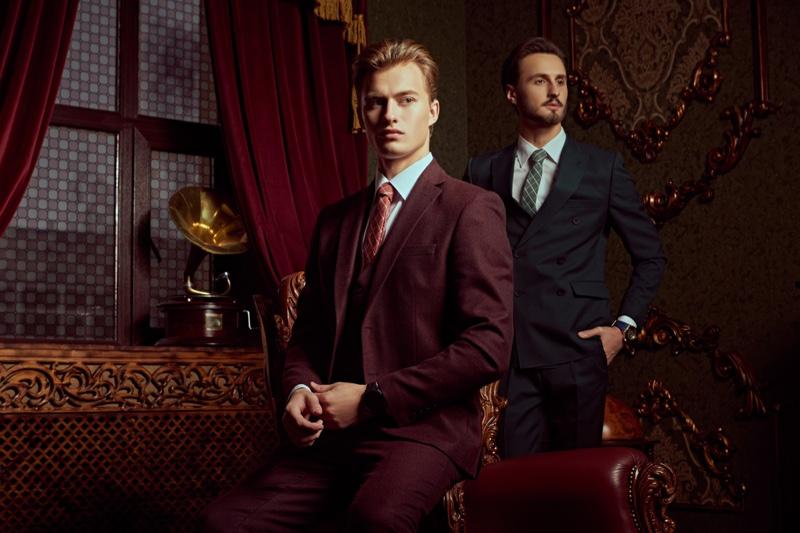 Male Models Suits Dapper Luxury