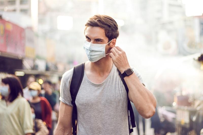 Male Wearing Face Mask Market Travel
