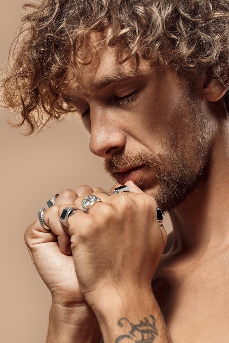 Man Wearing Jewelry