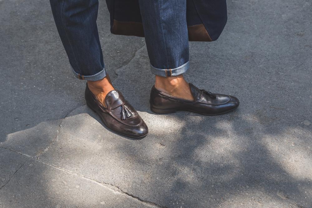 Man Wearing Loafers
