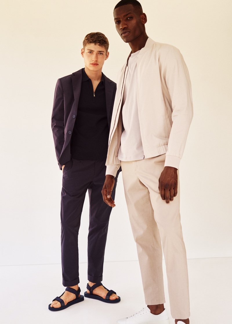 Models Valentin Humbroich and Bambi Kouyate come together as the faces of Mango Man's Clean collection.