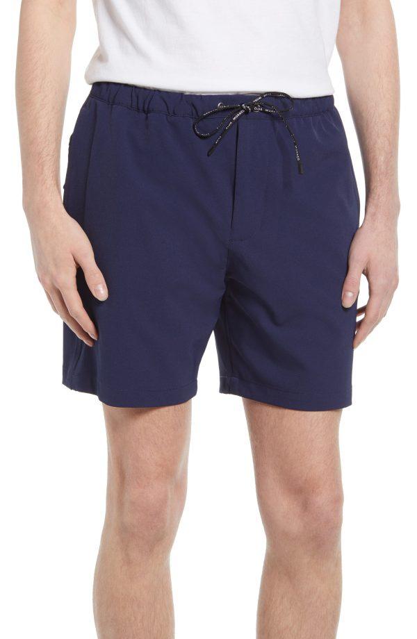 Men's Club Monaco Athletic Shorts, Size Small - Blue