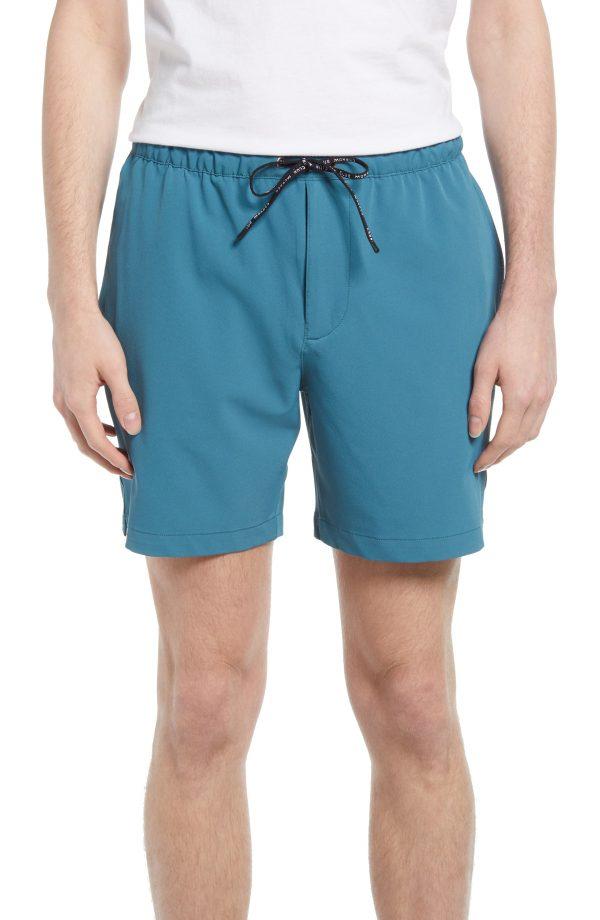 Men's Club Monaco Athletic Shorts, Size X-Small - Blue