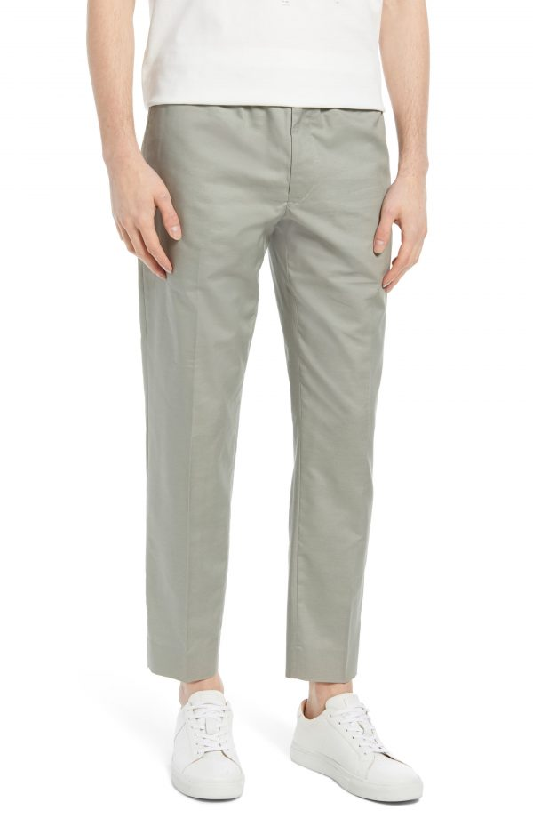 Men's Club Monaco Elastic Waist Pants, Size Medium - Grey