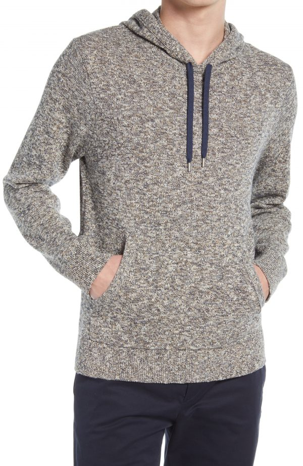 Men's Club Monaco Feel Good Hoodie Sweater, Size Large - Blue