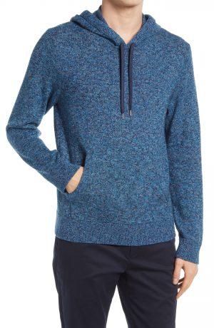 Men's Club Monaco Feel Good Hoodie Sweater, Size Medium - Blue