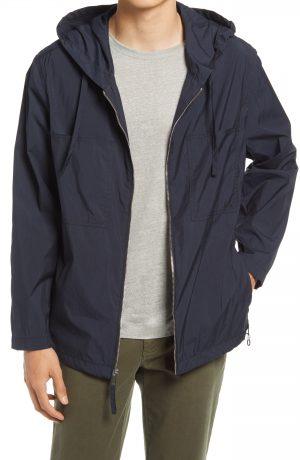 Men's Club Monaco Hooded Jacket, Size Medium - Black